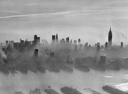 polluted skyline