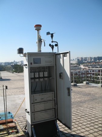 Rooftop monitor to measure air pollutants