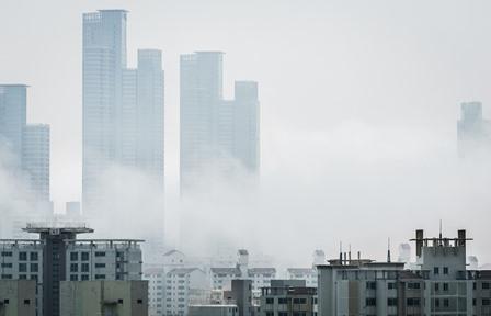 Smog in city