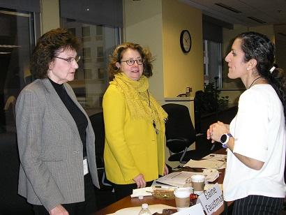 Photo of Shari Dunn-Norman, Elaine Faustman, and Nicole Deziel