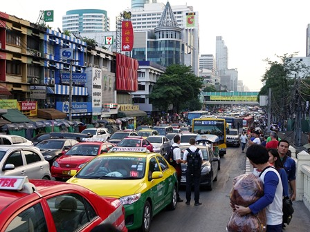 City traffic in Thailand