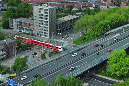 transportation in a city in Europe